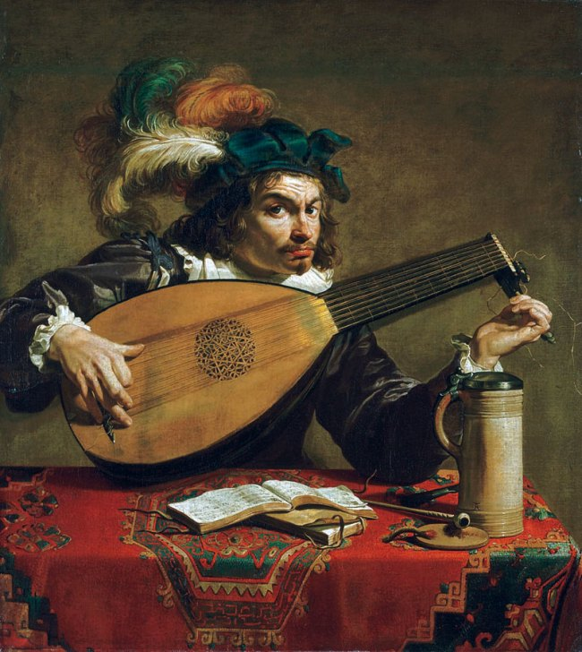 Theodoor Rombouts. 'A Lute Player' c. 1620