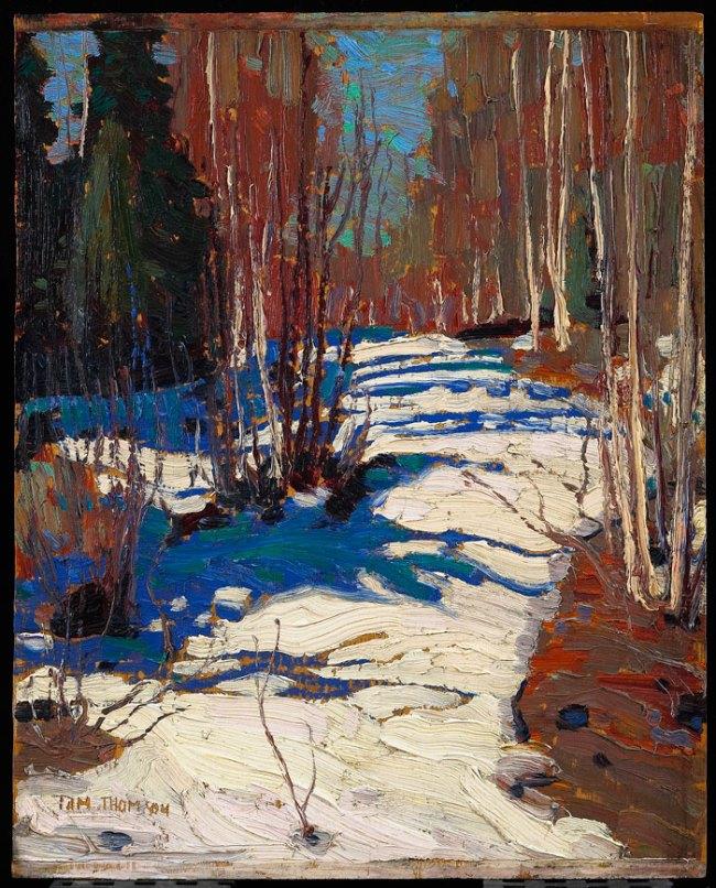 Tom Thomson. 'Path behind Mowat Lodge' 1917