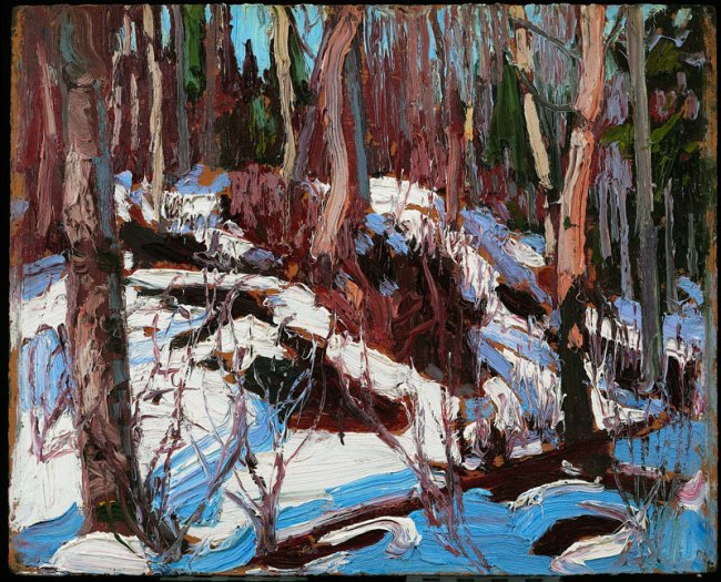 Tom Thomson. 'Winter Thaw in the Woods' 1917