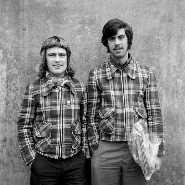 Daniel Meadows. 'Barrow-in-Furness, Cumbria'. Left: identified as James O'Connor. Right: David Balderstone. November 1974