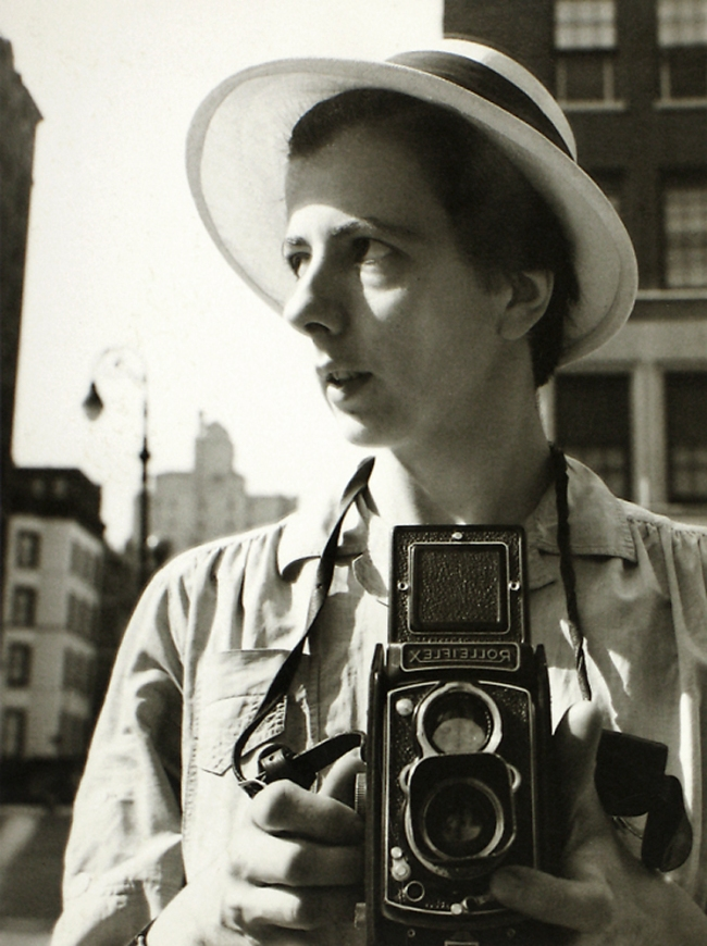 Vivian Maier. 'New York City, Self-Portrait, September 10th, 1955' 1955