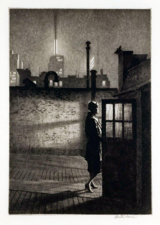 Martin Lewis (Australian, 1881-1962). 'Little Penthouse' 1931
