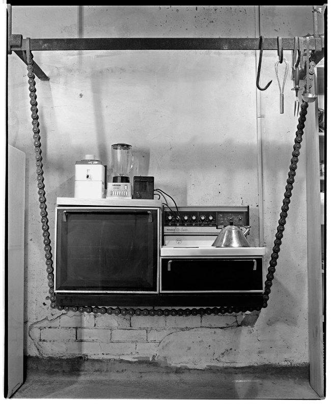 Marcus Bunyan. 'Suspended kitchen' 1991