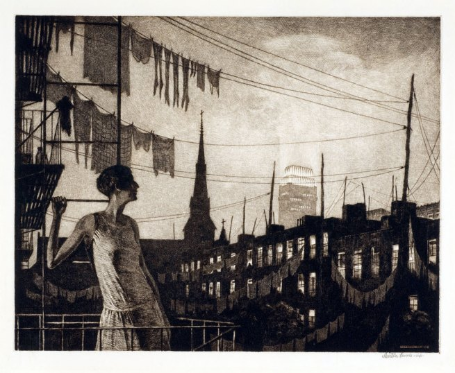 Martin Lewis (Australian, 1881-1962) 'Glow of the City' 1929