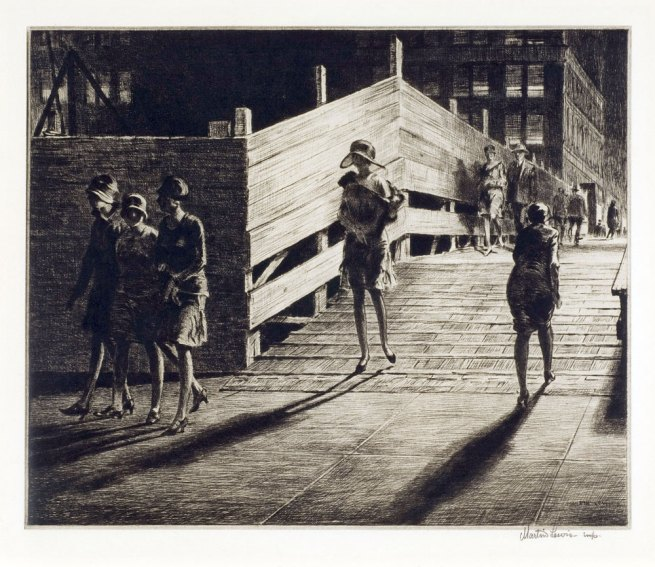 Martin Lewis (Australian, 1881-1962). 'Fifth Ave Bridge' 1928
