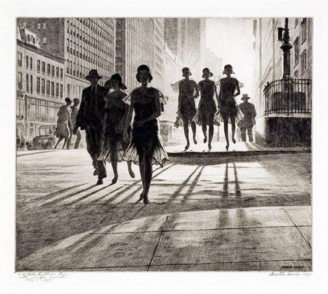 Martin Lewis (Australian, 1881-1962). 'Shadow Dance' 1930