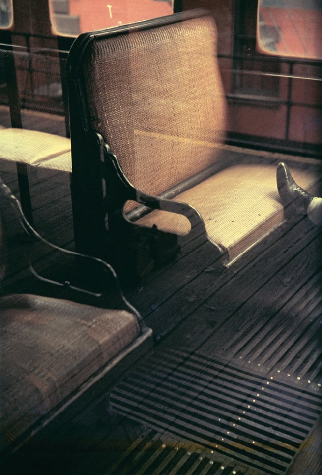 Saul Leiter (American, 1923-2013) 'Foot on El' 1954