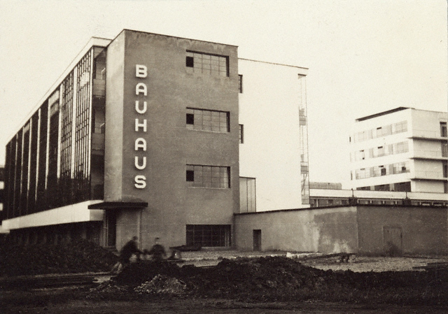 Lucia Moholy (British, born Czechoslovakia, 1894-1989) 'Untitled [Southern View of Newly Completed Bauhaus, Dessau]' 1926
