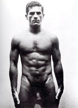 George Platt Lynes. 'Untitled (Frontal Male Nude)' Nd (early 1950s)