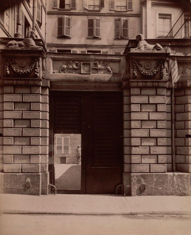 Eugène Atget. 'Maison où Mourut Voltaire en 1778, 1 rue de Beaune' 1909
