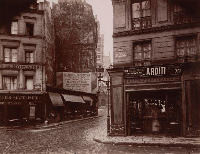 Eugène Atget. 'Rue de la Montagne-Sainte-Geneviève' June 1925