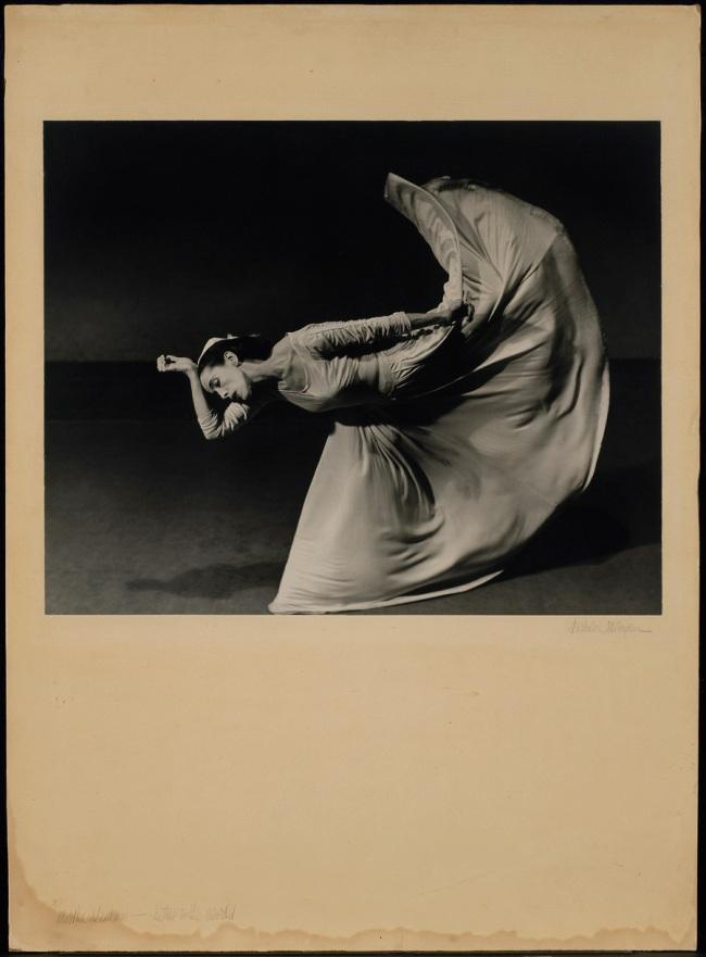 "Barbara Morgan. 'Martha Graham, Letter to the World, ""Kick""' 1940, printed c. 1945"