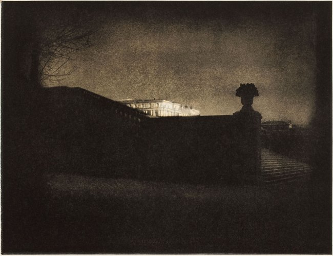 Edward Steichen. 'Nocturne - Orangery Staircase, Versailles' 1908