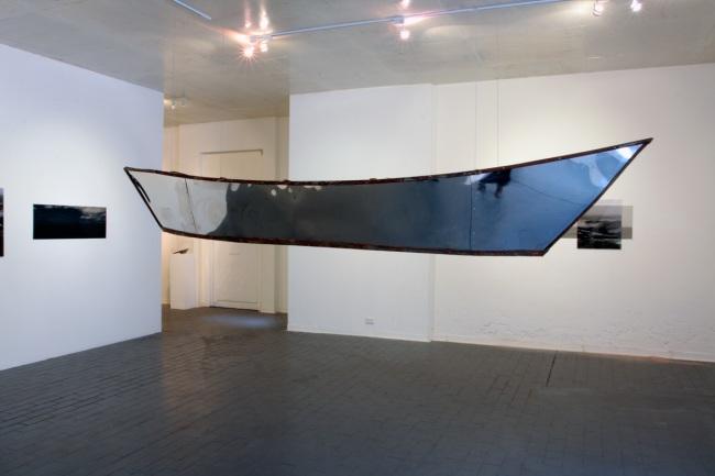 Installation of 'Traverse' by Kim Percy at Stockroom, Kyneton
