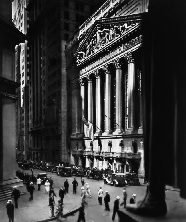 Berenice Abbott. 'New York Stock Exchange, New York City' 1933
