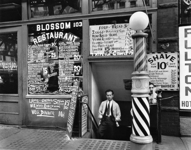 Berenice Abbott. 'Blossom Restaurant, 103 Bowery, New York City, October 24, 1935' 1935