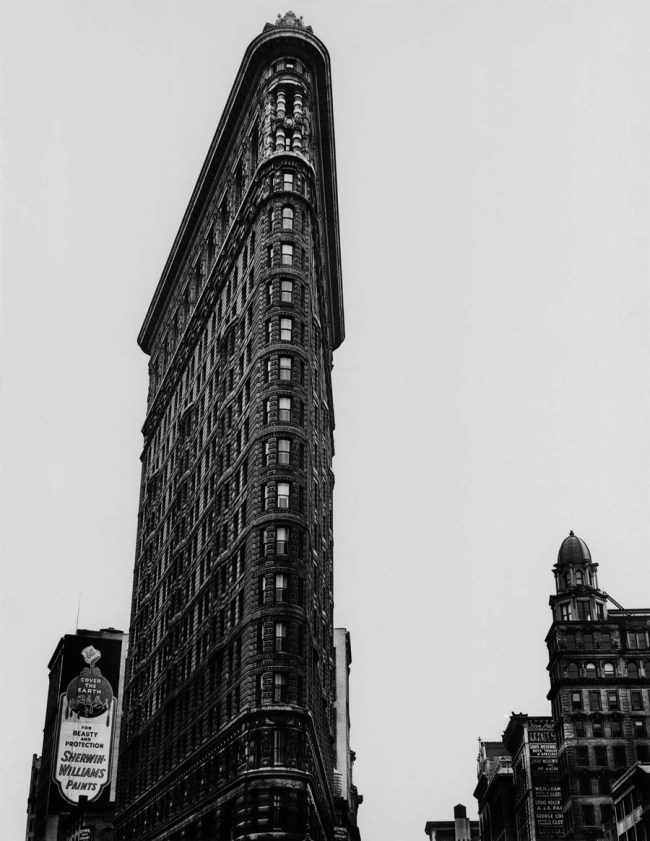 Berenice Abbott. 'Flat Iron Building, Broadway and Fifth Avenue, New York City' 1938