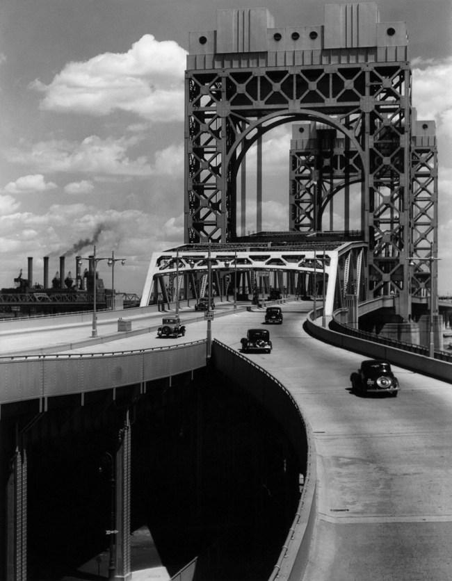 Berenice Abbott. 'Triborough Bridge, East 125th Street Approach, New York City, June 29, 1937'