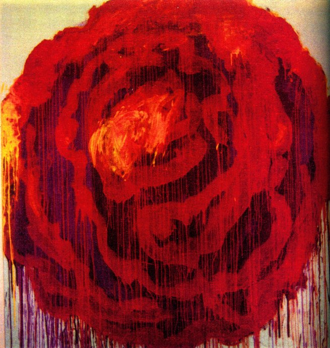 Cy Twombly. 'Painting detail of Roses, Gaeta' 2009