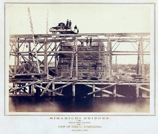Alexander Henderson. 'Miramichi Bridges: Southwest Branch, View of Pier G, completed September 15, 1873'