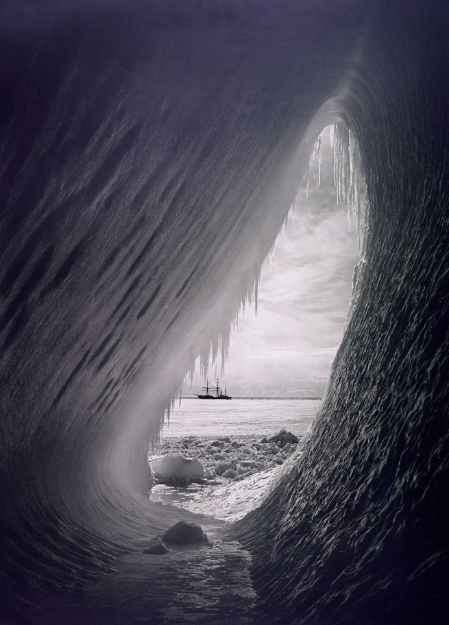 Herbert Ponting. 'Grotto in an iceberg' 5 January 1911