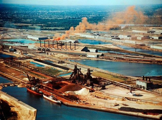 George Hunter. 'Dofasco and Stelco steel mills, Hamilton, Ontario' 1954