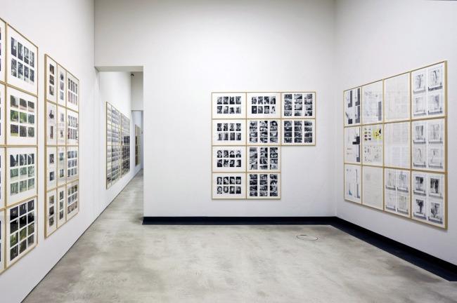 Installation photograph of 'Gerhard Richter. Atlas' Kunsthalle im Lipsiusbau 2012