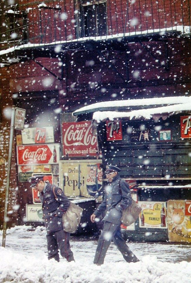 Saul Leiter. 'Postmen' 1952