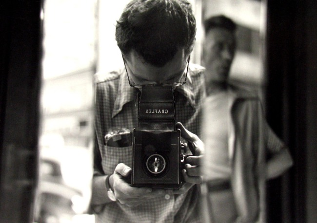 Saul Leiter. 'Untitled (Self-portrait)' 1950s