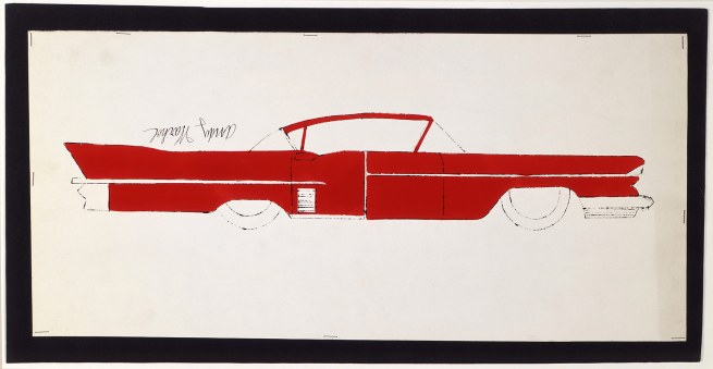 Andy Warhol. 'Car' 1950s