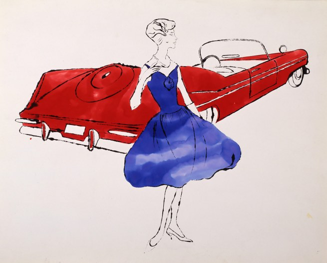 Andy Warhol. 'Female Fashion Figure' 1950s