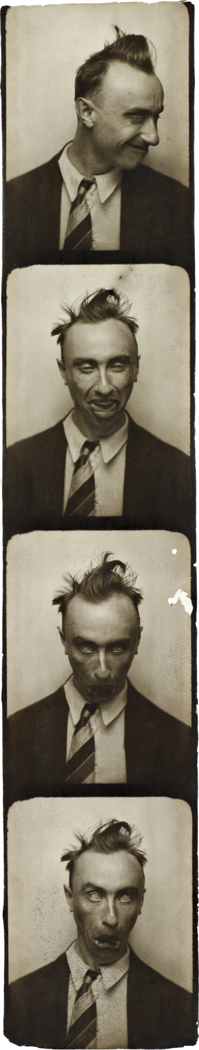 Yves Tanguy. 'Selfportrait in a Photobooth' c. 1929