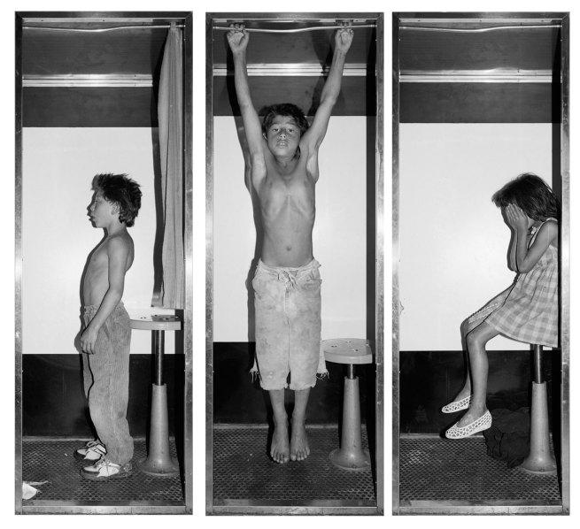 Mathieu Pernot. 'Jonathan, Mickael, Priscilla, Photobooth' 1996