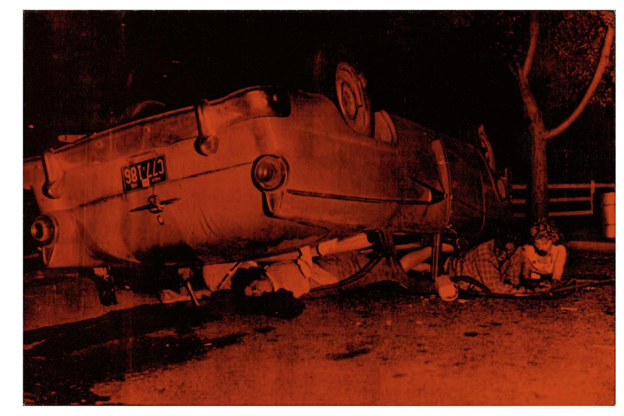 Orange Disaster Car Crash