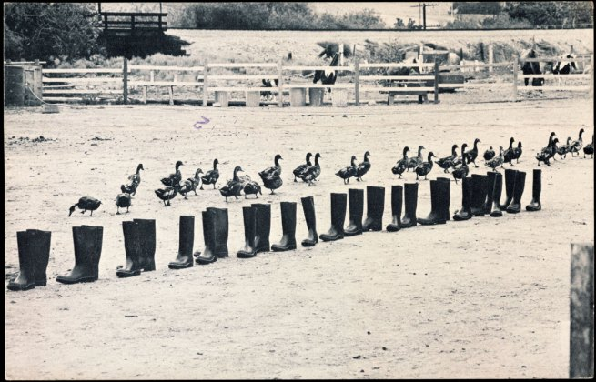 Eleanor Antin. '100 BOOTS Move On' 1971-1973