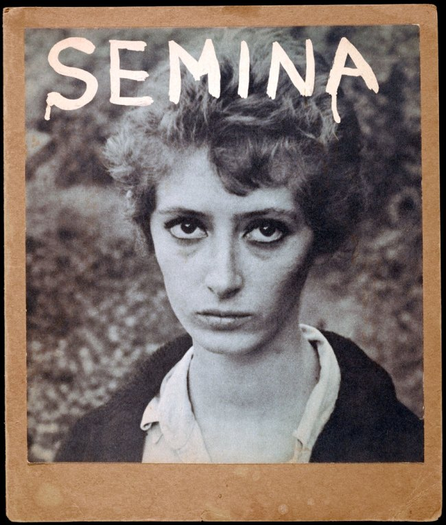 Wallace Berman. 'Semina Cover with Wife (Photograph of Shirley Berman)' 1959