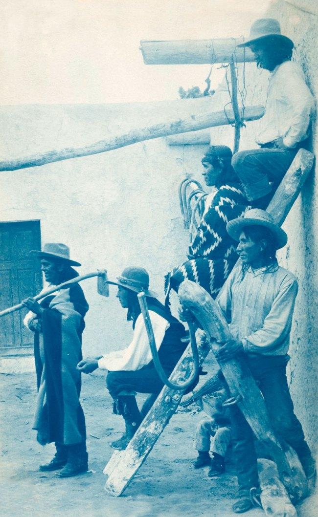Charles Lummis(American, 1859-1928) 'Cyanotype photograph album: Bits of New Mexico and Arizona, Vol. 2' Nd