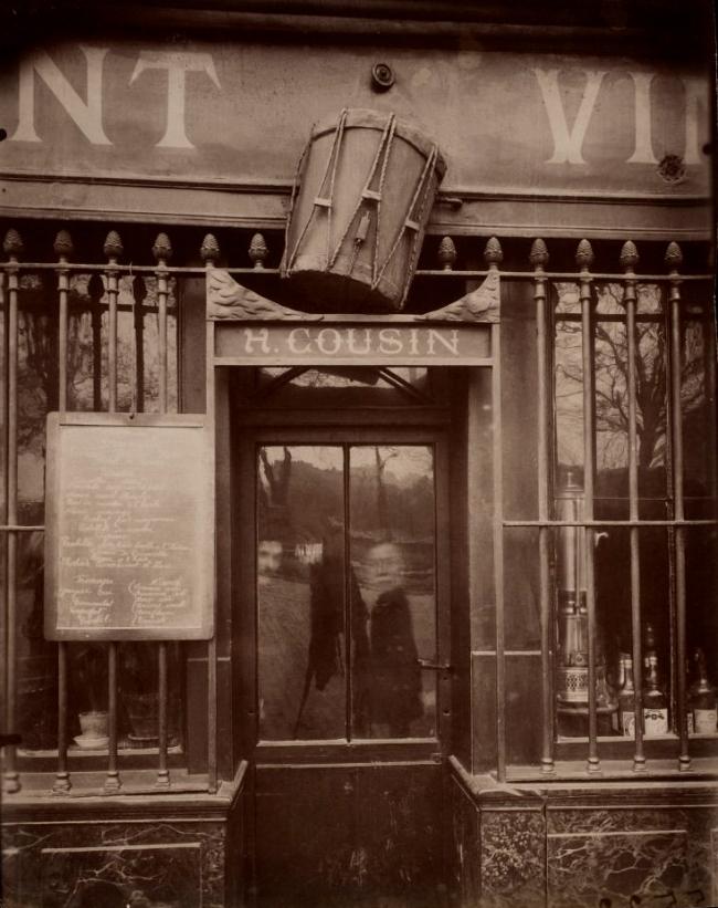 Eugene Atget. 'Au Tambour, 63 quai de la Tournelle' 1908