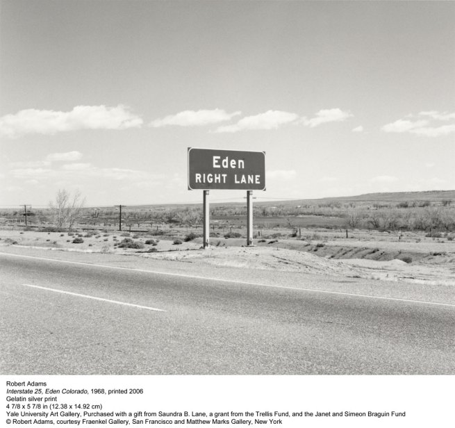 Robert Adams. 'Interstate 25, Eden Colorado' 1968