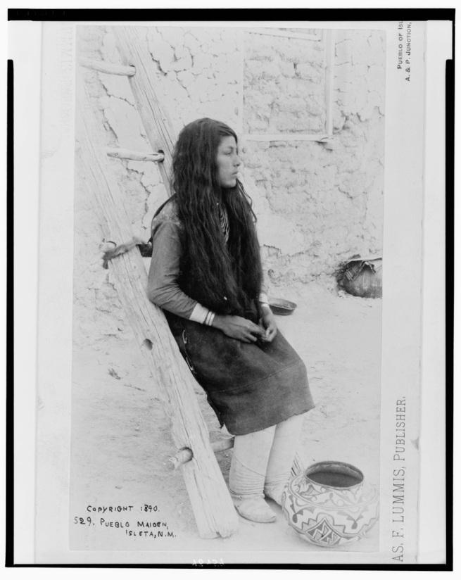 Charles Lummis(American, 1859-1928) 'Young Isleta Girl' Nd