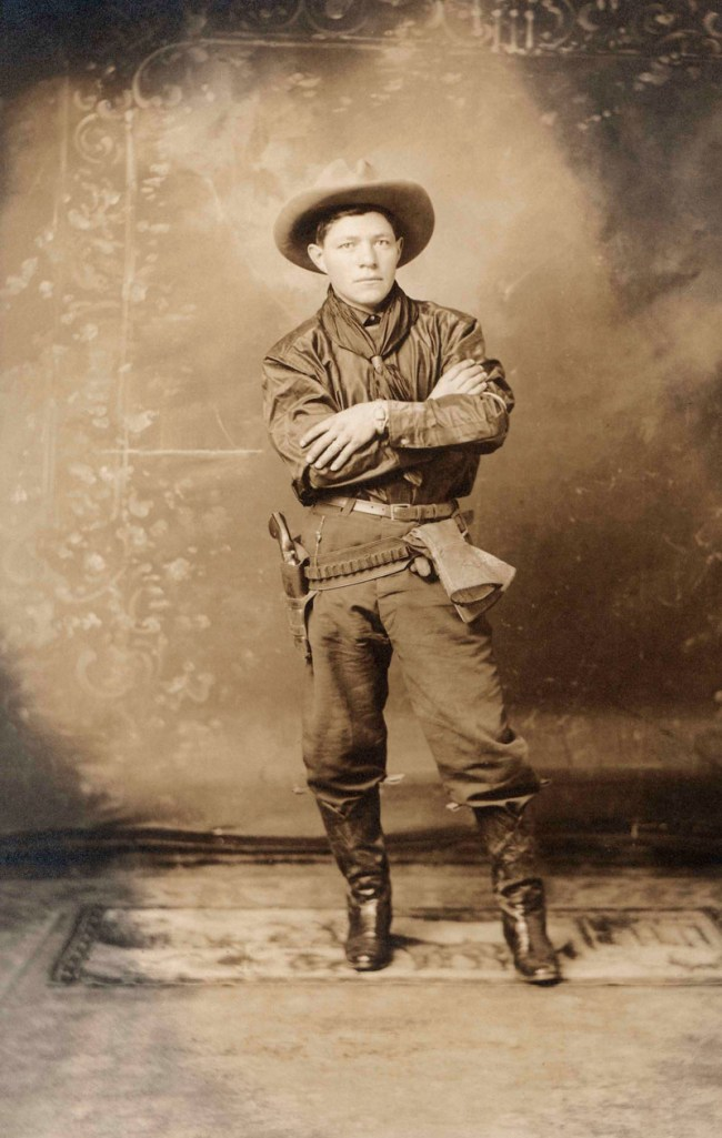 Unknown photographer. 'Jose S. Abeita, bronco buster, in Magdalena' c. 1920