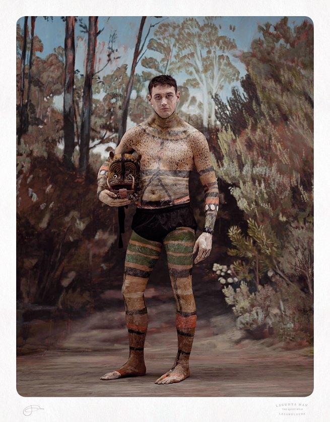 Jacqui Stockdale. 'Lagunta Man, Leeawuleena' 2012 Type C Print 100 x 78cm