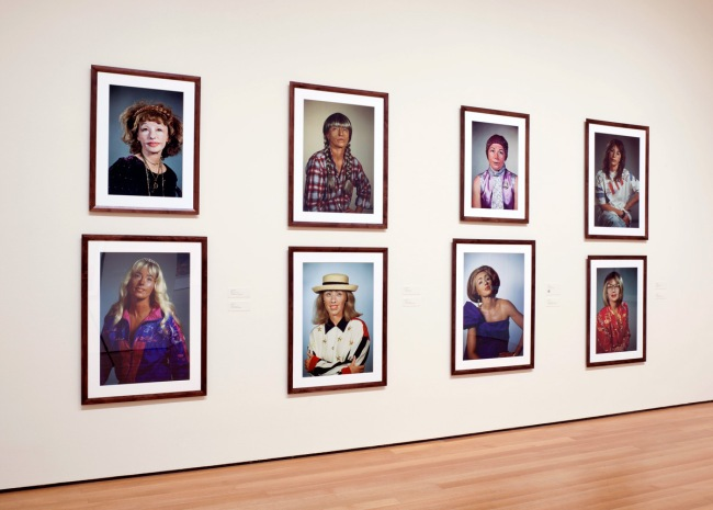 Cindy Shermanheadshots (2000-2002) installation photograph at MoMA, New York