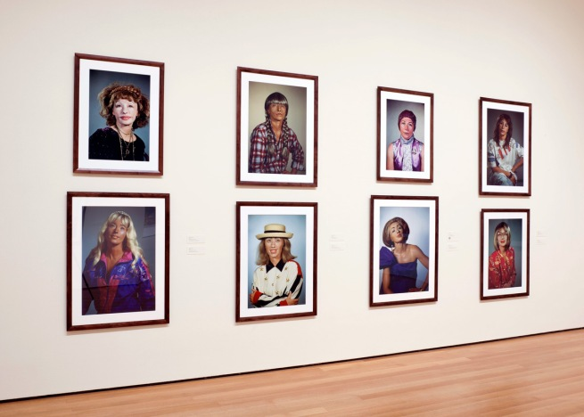 Cindy Sherman headshots (2000-2002) installation photograph at MoMA, New York