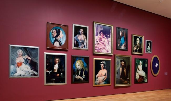 Cindy Sherman history portraits (1988-90) installation photograph at MoMA, New York