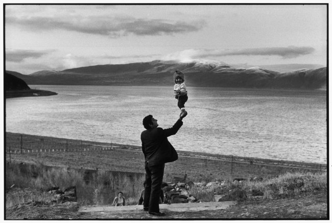Henri Cartier-Bresson (French, 1908-2004) 'SOVIET UNION. Armenia. Visitors at village on the Lake Sevan. 1972'