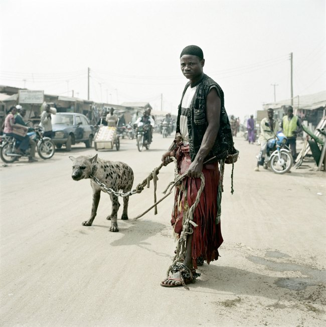 Pieter Hugo. 'Mallam Mantari Lamal with Mainasara, Abuja' From the series 'The Hyena & Other Men' 2005-2007