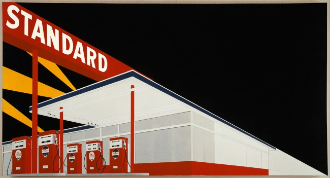 Ed Ruscha. 'Standard Station, Amarillo, Texas' 1963