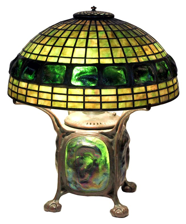 Tiffany Studios. 'Lamp with Turtleback Motif' Early 20th century. Collection of Dr. Byron Vreeland. Photo courtesy Christopher Martin