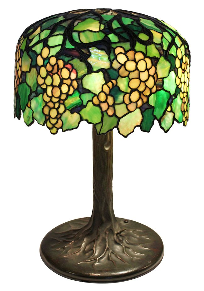 Tiffany Studios. 'Lamp with Grape Motif' Early 20th century Collection of Dr. Byron Vreeland Photo courtesy Christopher Martin